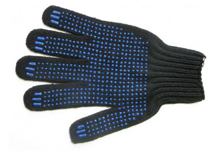 Перчатки трикотаж с ПВХ (черные)