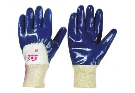 Перчатки нитриловые с частичным покрытием (манжет - крага)